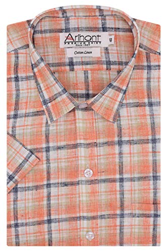 Arihant GHPC Checkered Cotton Half Sleeves Regular Fit Formal Shirt for Men