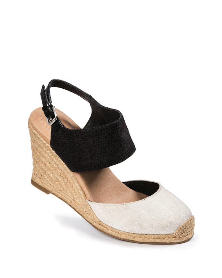 Me Too Women's Bellena Wedge Sandal B01BMRV7FQ 9 B(M) US|Cream/Black