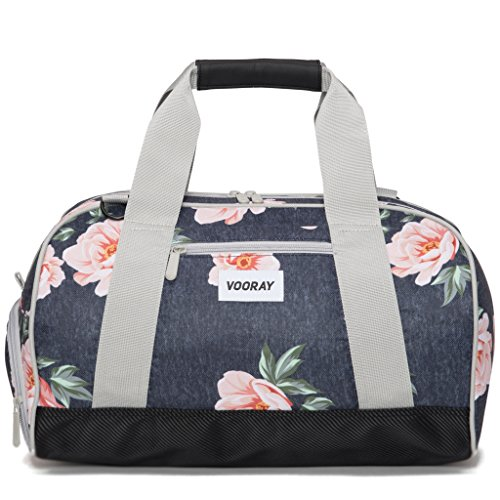 vooray-burner-16-compact-gym-bag-with-shoe-pocket-rose-navy