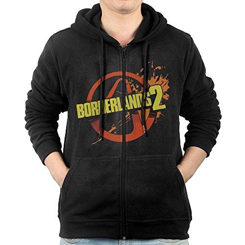 Fashion Hoodies For Mens Borderlands 2 Games Label Sweatshirts Zip-Up ()