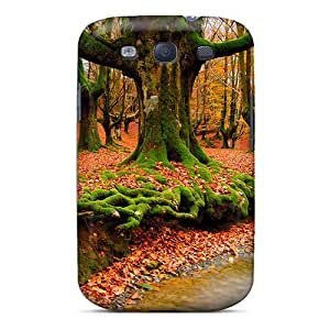 New Falling Red Leaves Tpu Case Cover, Anti-scratch Flower's Town Phone Case For Galaxy S3