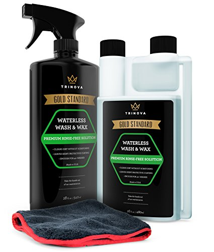 TriNova Waterless Car Wash and Wax Kit - Bug...