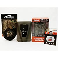 Bushnell Trophy Cam 119875C Trail Camera | Camlockbox | 8 GB Card | Python Cable