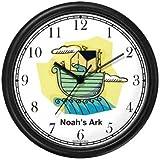 Noah's Ark No.4 - Biblical Theme Wall Clock by WatchBuddy Timepieces (Hunter Green Frame)