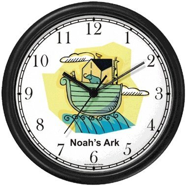 Amazon Com Noah S Ark No 4 Biblical Theme Wall Clock By