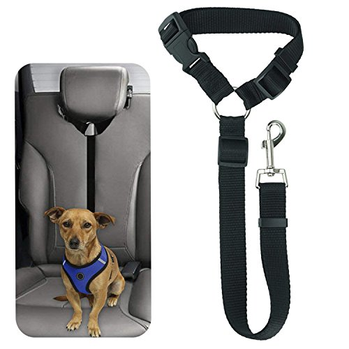 Cheap Bwogue Pet Dog Cat Seat Belts, Car Headrest Restraint Adjustable Safety Leads Vehicle Seatbelt Harness