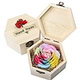 7 Colors Soap Flowers for Christmas Gift,Brithdays Gifts (circular)