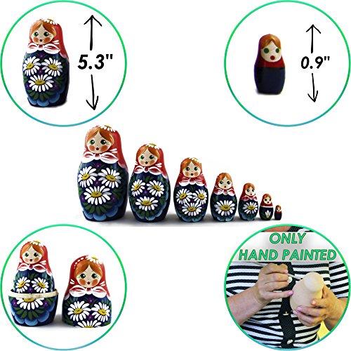 Nesting Dolls - Matryoshka Matrioskas Babushka Matruska Russian 7 Nesting Dolls for Kids - Matryoshka Russian Nesting Doll by MATRYOSHKA&HANDICRAFT (Image #2)