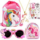 CoocleApril 7PCs Unicorn Party Favors Girl Gift Bags Glasses Necklace Earring Coin Purse Tattoo Sticker Party Gifts for Kids Girls