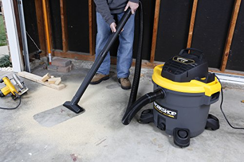 WORKSHOP Wet Dry Vac WS1200VA Heavy Duty General Purpose Wet Dry Vacuum Cleaner, 12-Gallon Shop Vacuum Cleaner, 5.0 Peak HP Wet And Dry Vacuum by Workshop (Image #3)