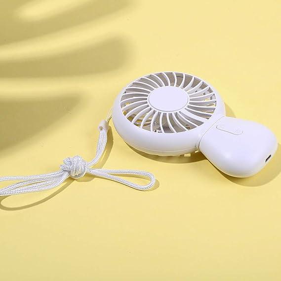 Mini Ventilador Silencioso Pequeño y Potente Ventilador Mini portátil USB Recargable de Mano Ventilador de Aire Acondicionado refrigerador enfriamiento SomeoLiky: Amazon.es: Hogar