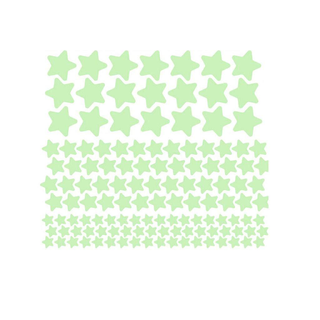 🌟127 PCS 3D Stars Glow in The Dark Luminous Fluorescent Wall Stickers Room Decors