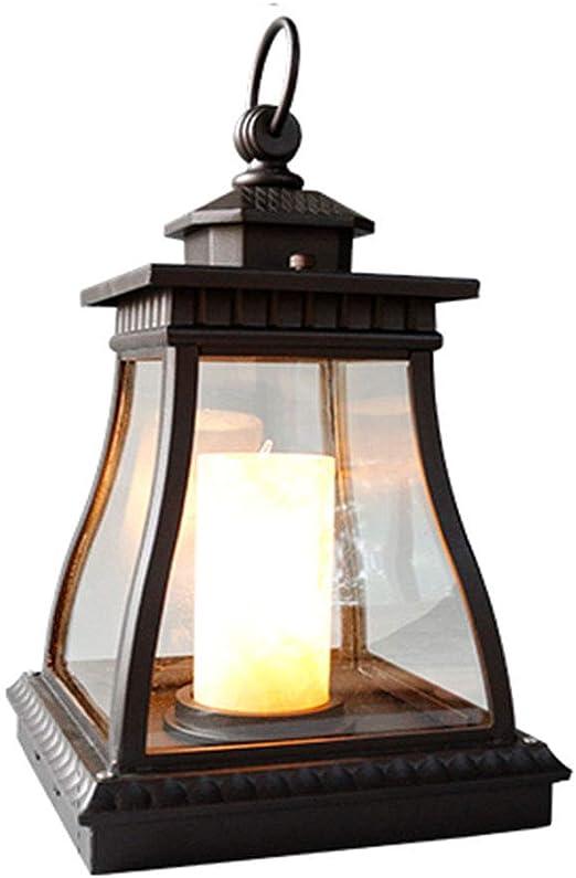 Wubing Lámpara de Pilar Césped Luz Exterior Impermeable Jardín Paisaje Lámpara de Poste Lámpara Exterior Lámpara de pie Villa de jardín Villa Exterior (Color : Black, Size : 23 * 43CM): Amazon.es: Hogar