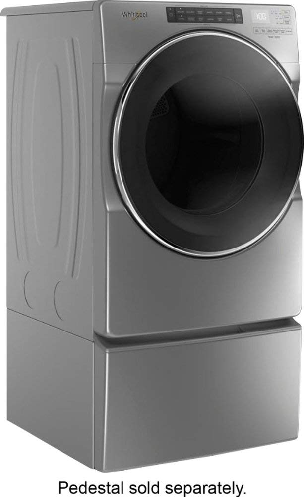 Chrome Shadow-Model:WED6620HC 37-Cycle High-Efficiency Electric Dryer with Steam Ft 7.4 Cu Whirlpool