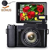 Digital Camera Vlog Camera Full HD 1080p Point and Shoot...