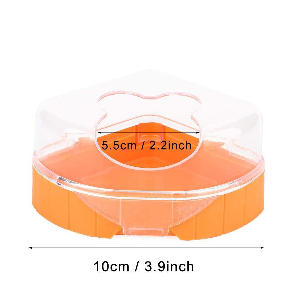 Criceto Sabbia Bagno Plastica Piccolo Animale Domestico Sabbia Vasca Contenitore Criceto Sandbox Sauna Sala da Bagno Toilette Vasca con Paletta per Cincill/à Orsi doro