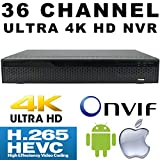 USG 36 Channel H.265 Ultra 4k IP Security NVR : 36ch 4K 4096×2160 : Max 12TB, ONVIF 2.4, RTSP, HDMI + VGA, USB, Audio, Gigabit RJ45 : For USG LS Model Line IP Cameras : Business Grade IP CCTV