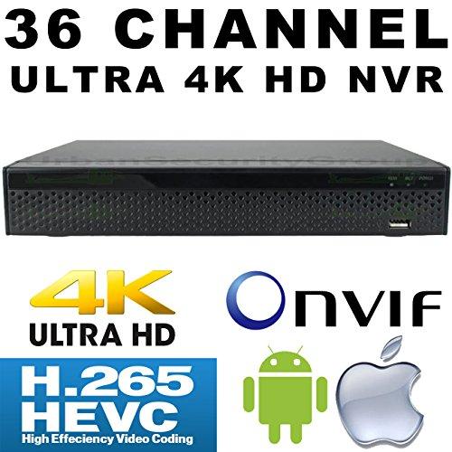 USG 36 Channel H.265 Ultra 4k IP Security NVR : 36ch 4K 4096×2160 : Max 12TB, ONVIF 2.4, RTSP, HDMI + VGA, USB, Audio, Gigabit RJ45 : For USG LS Model Line IP Cameras : Business Grade IP CCTV by Urban Security Group