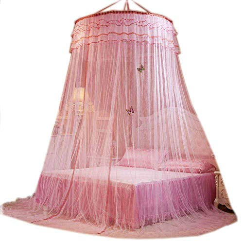 POPPAP Bed Curtains Canopy for Girls Kids Round Dome Romantic Large Size Mosquito Netting