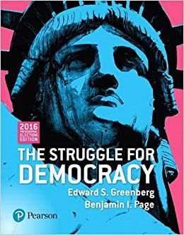 The struggle for democracy 2016 presdential election edition the struggle for democracy 2016 presdential election edition edward s greenberg benjamin i page 9780134571706 amazon books fandeluxe Images