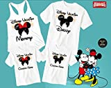 Disney Family Shirts Mickey and Minnie Head Ears His and Hers Matching Disney Custom Family Vacation Shirts(D36)