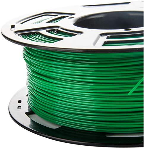 3DDPLUS 1.75mm PLA 3D Printer Filament Green- 1kg Spool (2.2 lbs) - Dimensional Accuracy +/- 0.03mm