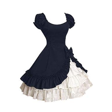 Zegeey Damen 50er Vintage Rockabilly Kleid Partykleider Petticoat