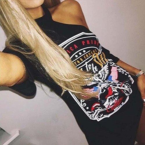Con Gonna Donna Vintage Shirt Stile T Da Scoperte Abito Lunga Spalle Mini Nero Oyedens Moda Con Donna Vestito 800Rp