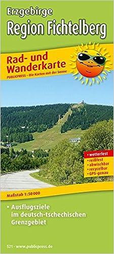 Rad Und Wanderkarte Erzgebirge Region Fichtelberg 1 50000