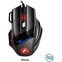 Profesyonel Kablolu Gaming Mouse 7 Düğme 5500 DPI LED Optik USB Bilgisayar Fare Gamer X7 Oyun Mouseu Sessiz Mod