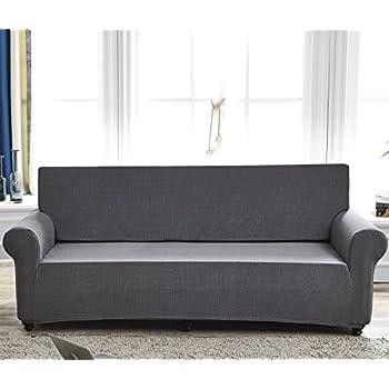 Amazon Surefit e Piece Sofa Slipcover Stretch Rib Ebony
