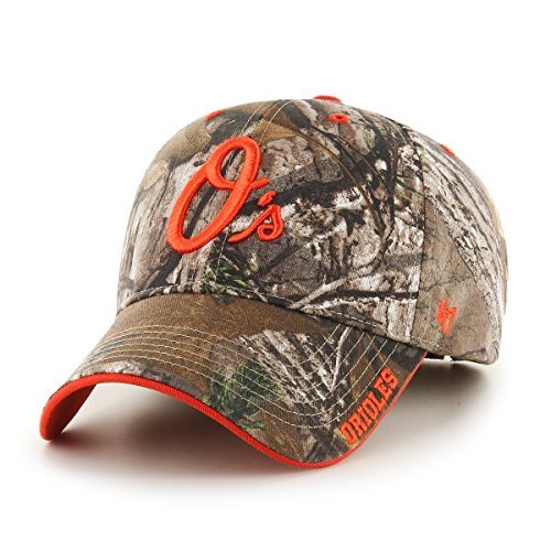 '47 MLB Baltimore Orioles Frost MVP Adjustable Hat, One Size, Realtree Camouflage ()