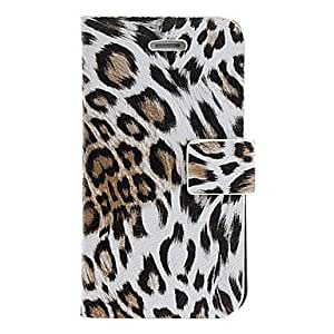 YXF Leopard Print PU Full Body Case with Card Slot and Stand for iPhone 4/4S (Assorted Colors) , khaki