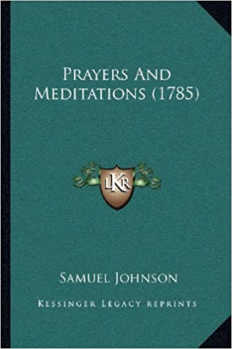 prayers and meditations 1785