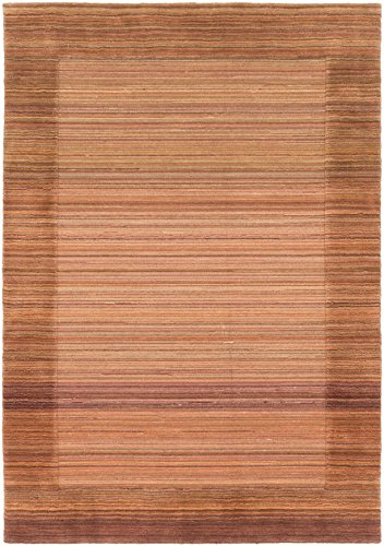 Ecarpetgallery Hand-Knotted Luribaft Gabbeh Riz Open Field 4' x 6' Brown 100% Wool Area Rug from eCarpet Gallery