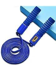 Aloces Springtouw voor kinderen, Speed Rope met teller en comfortabele handgrepen voor sporttraining, verstelbaar springtouw, Speed Jump Rope Skipping Rope voor fitnesstraining en calorieverbruik (blauw)