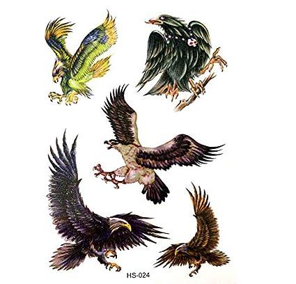ruofengpuzi 3Pcs Impermeable Águila Hombre Tatuaje Temporal De ...