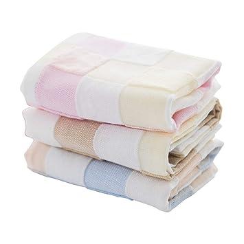 DWW Toalla para Baby Shower, Toalla de algodón 100% Natural, Gasa, 6 Capas, sin colorante, Piel Sensible del bebé - 3 Paquetes: Amazon.es: Hogar