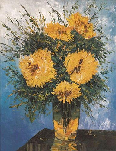Paul Hobbs Napa - Oil Painting 'Chrysanthemum', 10 x 13 inch / 25 x 33 cm , on High Definition HD canvas prints is for Gifts And Home Theater, Kitchen And Nursery Decoration, canvis prints