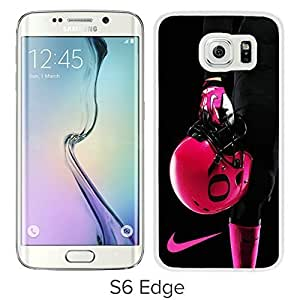 Customized Phone Case For Samsung S6 Edge oregon ducks pink helmets Cell Phone Cover Case for Samsung Galaxy S6 Edge G9250 White