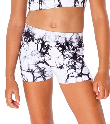 Malibu Sugar Kids (4-6x) Tie Dye Boyshorts One Size Black/White Boys Tie Dye Short