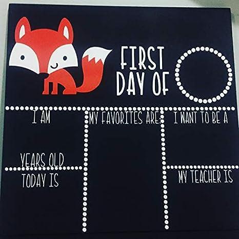 Bair89Pulla Fox - Pizarra de Tiza para el Primer día de la ...