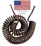 50' Coiled Gatorhyde Garden Hose Brown