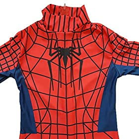 - 513ELiehInL - Kids Spiderman Costume Child Superhero Cosplay Elastic Jumpsuit Amazing Spandex Zentai Suit Halloween Boys Costumes