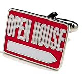 Mens Cufflinks Open House Realtor Sign Cuff Links C5313