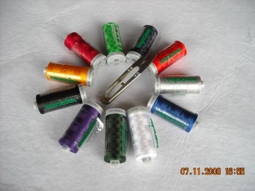 Embroidery Rayon Wt Thread 40 (Rayon Embroidery & Sewing Thread 12 Spool (1,100 Yards Ea)40 Wt Set)