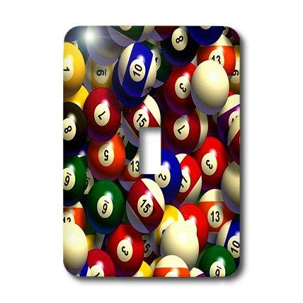 3dRose lsp_962_1 Billiard Balls Pool - Single Toggle (1 Light Billiard Lights)