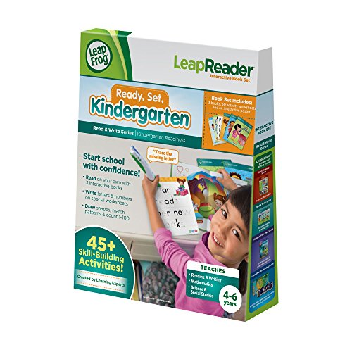 LeapFrog LeapReader Read and Write Book Set: Ready, Set, Kindergarten (for ()