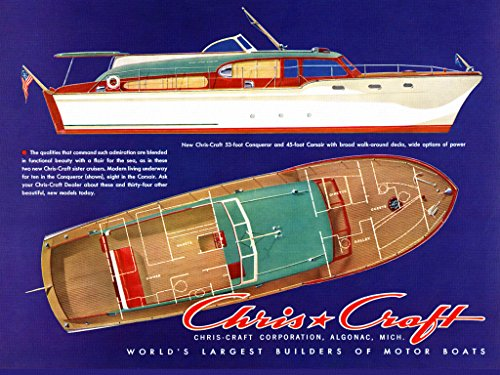 Chris Craft Vintage Manual Library Hercules Engines