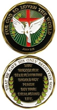 John 3:16 For God So Loved The World Military Challenge Coin